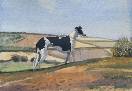 Hound in a landscape